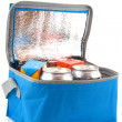 Coolbox with beverages — Stock Photo