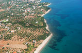 Air image from Greek Peloponnese — Stock Photo