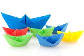 Barcos de papel — Foto de Stock