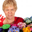 Gardening senior woman — Stock Photo