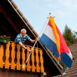Royalty-Free Stock Photo: Hanging the Dutch flag