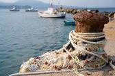 Visserij haven met boten — Stockfoto