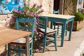 Typical Greek terrace — Stock Photo