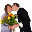 Birthday kissing — Stock Photo #3082320