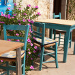 Typical Greek terrace - Stock Photo