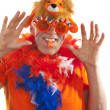 Funny Dutch supporter — Stock Photo
