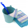 Cleaning in blue - Stockfoto