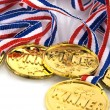 Stock Photo: Golden medals