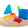 Stock Photo: Toys in the sand