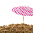 Parasol at the beach — Stock Photo