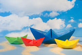 Paper boats — Foto Stock