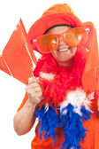 Dutch soccer supporter — Foto Stock