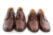 Shiny brown shoes — Stock Photo