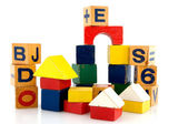 Building with blocs — Stock Photo