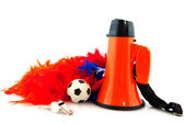 Supporting Dutch soccer team — Stock Photo