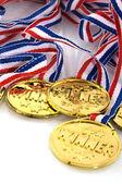 Golden medals — Stock Photo