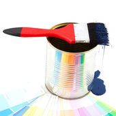 Dripping paint brush — Stock Photo