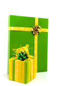 Зеленый Подарки — Стоковое фото