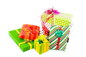 Luxury wrapped presents — Stock Photo