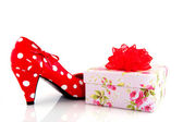 Shoe with present — Stock Photo