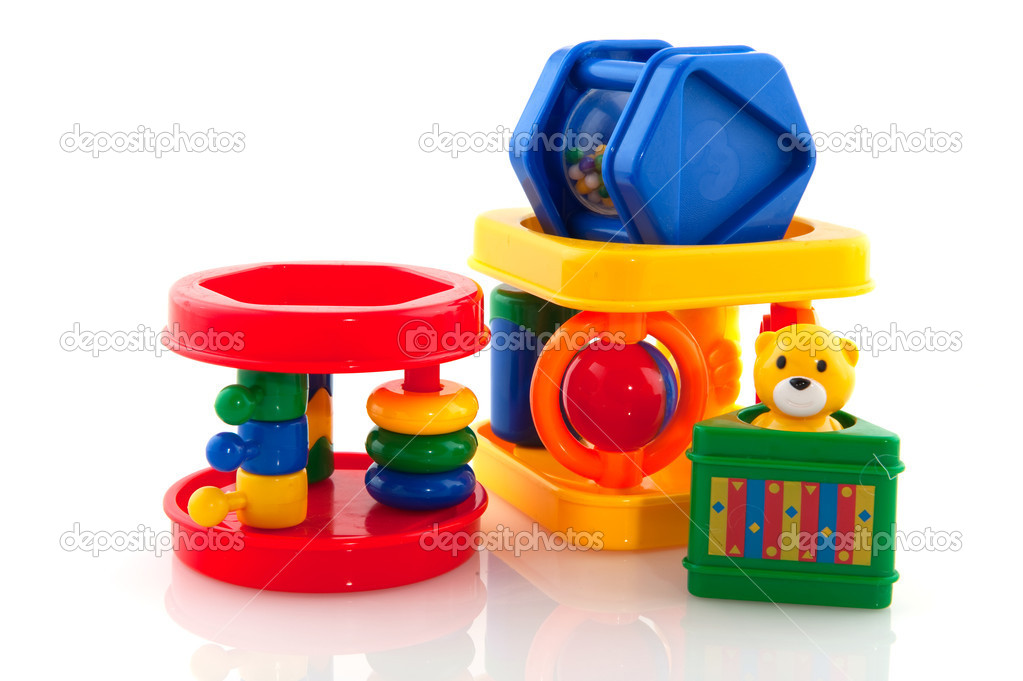 Colorful plastic baby toys — Stock Photo #3141527