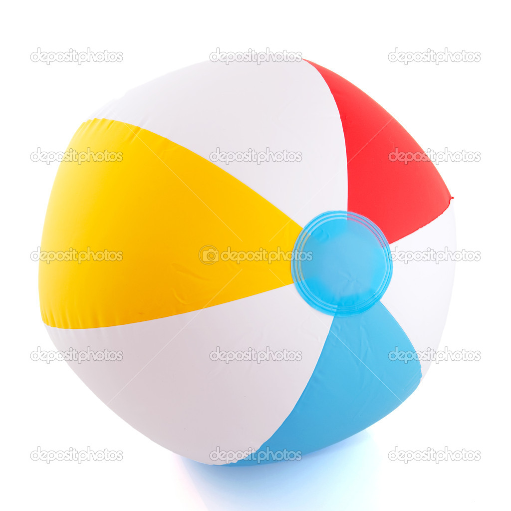 Floated beach ball for fun at the vacation  Stock Photo #3142377