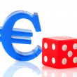 Euro sign with dices — Stock Photo #3192697
