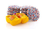 Dutch chocolat candy with clogs — Stock Photo