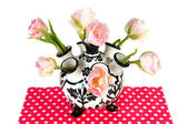 Pink double tulips — Stock Photo