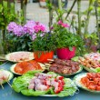 BBQ in the garden — Stock Photo