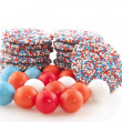 Dutch chocolat candy with sweet balls — Stock Photo