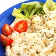 Fresh vegan potato salad -  