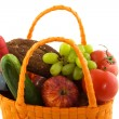 Shopping bag with daily food — Stock Photo