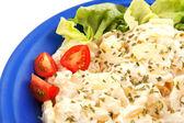 Fresh vegan potato salad — Stock Photo