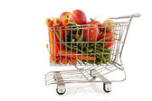 Shopping fresh vegetables — Stock Photo