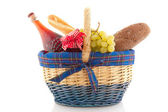 Cheerful filled basket — Stock Photo