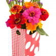 Colorful garden bouquet — Stock Photo