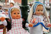 Dutch costumed dolls — Stock Photo