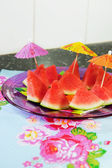 Tropical slices of water melon — Stock Photo