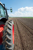 Tractor in the fields — Stock Photo