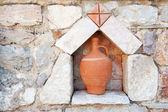 Greek earthenware vase — Stock Photo