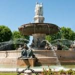 Aix-en-Provence fountain — Stock Photo