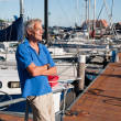 Stock Photo: Man in harbor