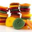 Colorful candy rolls — Stock Photo