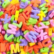 Colorful foam letters — Stock Photo