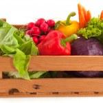 Kiste Gemüse — Stockfoto