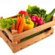 Crate vegetables — 图库照片
