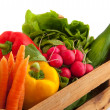 låda grönsaker — Stockfoto
