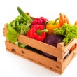 Crate vegetables — Stock Photo