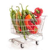 Koszyk z warzywami — Zdjęcie stockowe